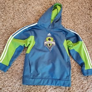 Seattle Sounders FC Adidas hoodie Youth M 10/12💚